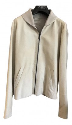 Bottega Veneta White Leather Jackets