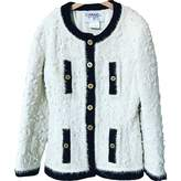Chanel White Wool Jacket for Women Vintage