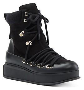Salvatore Ferragamo Women's Lace Up Platform Boots