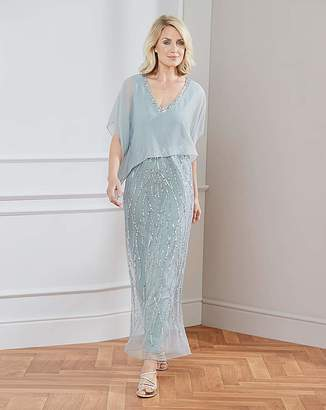 Nightingales Beaded Cape Dress