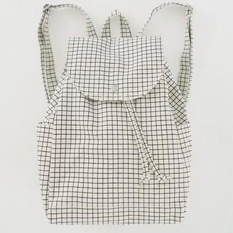 Baggu Drawstring Backpack - Natural Grid