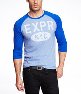Express Marled Graphic Baseball Tee - Expr Pill Box