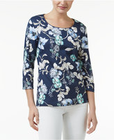 Karen Scott Floral-Print Top, Only at Macy's