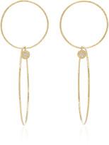 Octavia Elizabeth 18K Gold Diamond Hoop Earrings