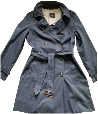 Max Mara Weekend Blue Cotton Trench Coat for Women