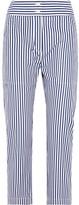 ADAM by Adam Lippes Cropped Striped Cotton Slim-leg Pants - US12