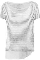 Majestic Striped Linen Top