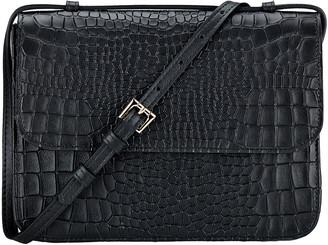 GiGi New York Abbott Croc-Embossed Leather Crossbody Bag