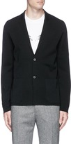 Lanvin Notched lapel wool-silk cardigan