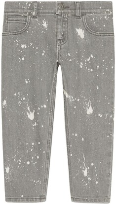 Gucci Kids Children's washed denim pant