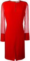 Givenchy sheer sleeve dress - women - Silk/Acetate - 38