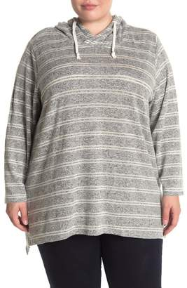 Workshop Striped Brushed Knit Pullover Hoodie (Plus Size)
