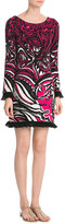 Emilio Pucci Intarsia Dress with Fringed Trim