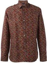 Lanvin slim scrambled print shirt - men - Silk - 41