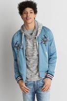 American Eagle Outfitters AE Reversible Embroidered Bomber Jacket