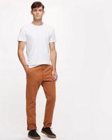 Garment Dye Cotton Slim Trousers