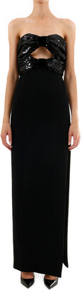 Saint Laurent Sequinned Maxi Dress