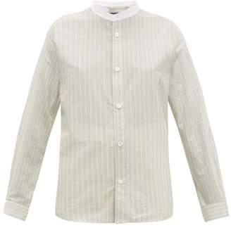 A.P.C. Bettina Striped Cotton Shirt - Womens - Green Multi