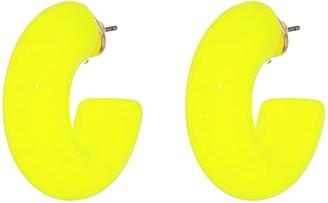 Kate Spade Poolside Jelly Hoops Earrings (Turquoise) Earring