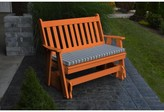 """Speth Traditional English Gliding Bench Red Barrel Studio Size: 41"""" H x 62"""" W 27"""" D, Color: Orange"""
