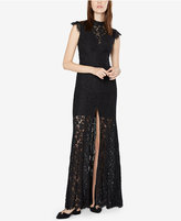 Fame and Partners Lace Cutout-Back Gown