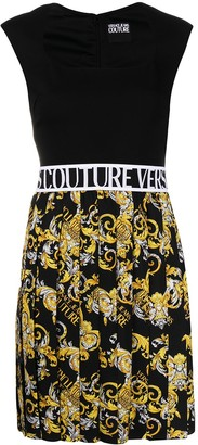 Versace Jeans Couture Logo Baroque-print panelled dress