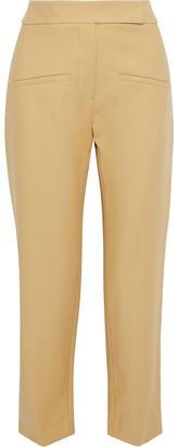 KHAITE Coco Cropped Cotton-twill Straight-leg Pants