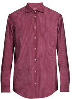 Massimo Alba Button-cuff Striped Cotton Shirt