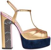 Fendi colour block platform sandals