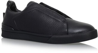 Ermenegildo Zegna Leather Xxx Elastic Sneakers