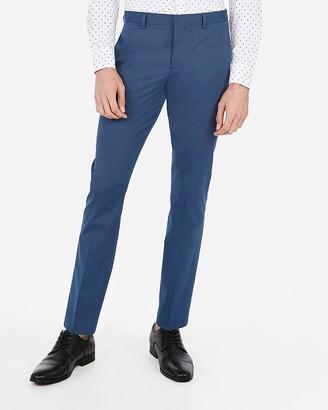 Express Slim Medium Blue Stripe Cotton Blend Stretch Suit Pant