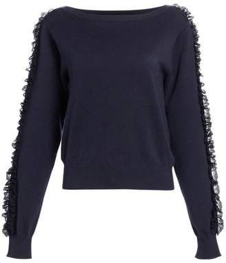 See by Chloe Ruffle Sleeve Knit Sweater