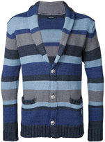 GUILD PRIME striped cardigan - men - Cotton - 1