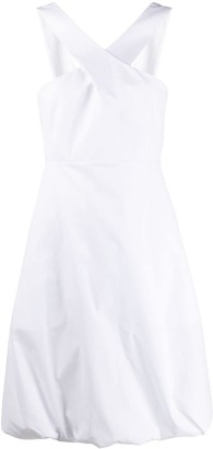 Salvatore Ferragamo Cross Straps Short Dress