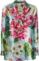 Dolce & Gabbana floral print double breasted blazer