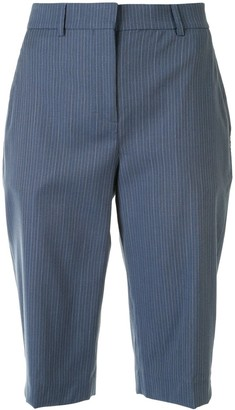 Cédric Charlier Cropped Pinstriped Trousers