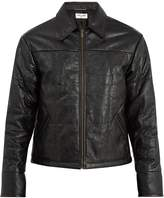 Saint Laurent Point-collar quilted-leather jacket