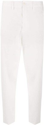 Closed Cropped Mid-Rise Trousers