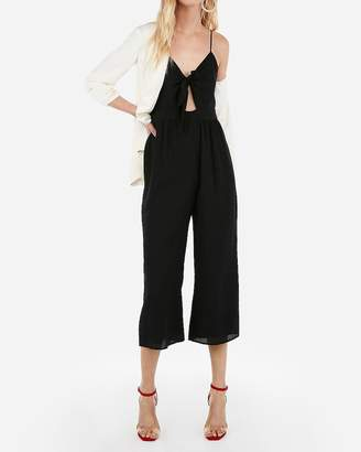 Express Cropped Tie Front Jumpsuit