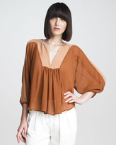 See by Chloe Pleated Chiffon Blouse