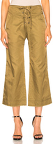 Marissa Webb Parker Cropped Pant in Green.