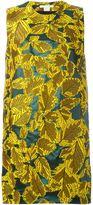 Antonio Berardi leaves brocade dress