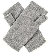 Black Ladies Light Grey Cashmere Mittens