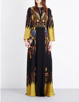 Etro Bell-sleeve printed silk gown