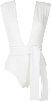 Haight Tie-Up Plunging Neck One-Piece