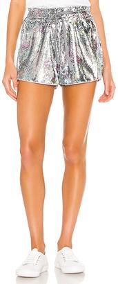 Pam & Gela Sequin High Waist Shorts