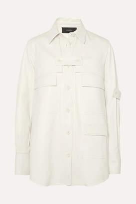 Joseph Wesley Layered Leather Shirt - White