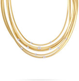 Marco Bicego Masai 18K Gold Five-Strand Necklace with Diamond Stations