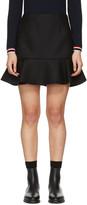 Moncler Black Ruffle Miniskirt
