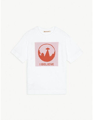 Marni Spaceship logo cotton T-shirt 4-14 years